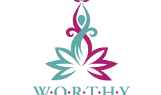 W.O.R.T.H.Y. Program-six leaves represent the 6-step process. An image rising out of the 6-steps and placing a crown on its head